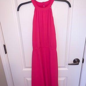 LOFT hot pink halter top dress